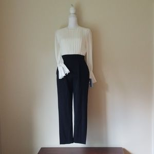 Mag London Black and White Petite Pantsuit